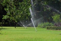 Garden lawn water sprinkler. Garden lawn water sprinkler in the summer Stock Image