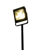 Garden LED spotlight on stand White background royalty free stock image