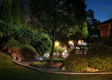 Garden lights illumination Royalty Free Stock Image