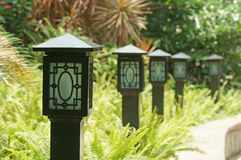 Garden lights Royalty Free Stock Photos
