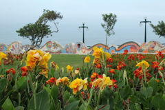 A garden in lima, peru. A colorfoul garden in the capital of peru, lima Royalty Free Stock Photography