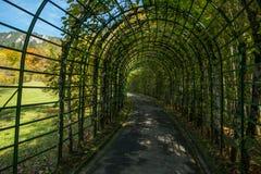 Garden in Linderhof Palace stock photos