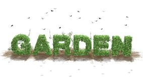 Garden - Logo From Green Ivy Leaves Stock Photo