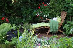 Garden lounge chair Stock Images