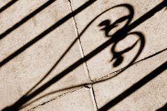 Garden loveheart shadow stock images