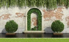 Garden with lush vegetation Royalty Free Stock Photos