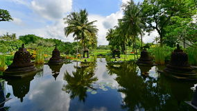Garden of a luxury resort in Java Royalty Free Stock Photo