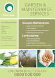 Garden And Maintenance Flyer Template. Garden and maintenance flyer A4 template Stock Images