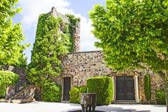 Garden in the Mandelieu-la Napoule Castle Stock Photography