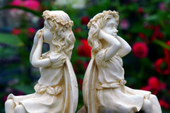 Garden marble statues  Stock Photos