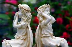 Garden marble statues stock photos