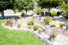 Garden in Marvao Stock Photo