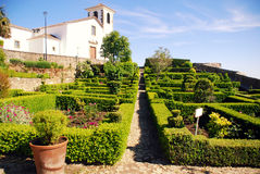 Garden in medieval village Marvao(Portugal) Royalty Free Stock Photos