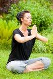 Garden meditation Royalty Free Stock Images