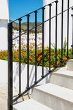 Garden metal railings Stock Photos
