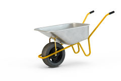 Garden metal wheelbarrow cart Royalty Free Stock Images