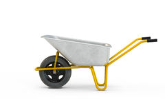 Garden metal wheelbarrow cart Stock Photography