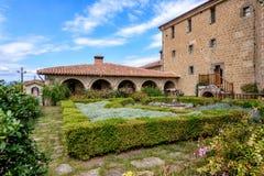 Garden in Meteora monastery in Greece Royalty Free Stock Photos