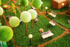 Garden miniature Stock Image
