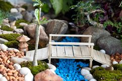 Garden model. Beautiful garden model for home decorate Royalty Free Stock Image