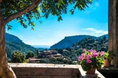 Garden in monastery of village Valldemossa Royalty Free Stock Image