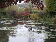 Garden Monet. Water lilies, garden Monet. autumn. calmness and enjoyment. Japanese bridgern Stock Photography