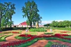 Garden of Monplaisir palace. Peterhof. Stock Photography