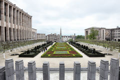 Garden of the Mont des Arts in Brussels Stock Images