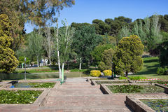Garden at Montjuic in Barcelona Stock Photo