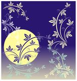 Garden a moonlight night royalty free illustration
