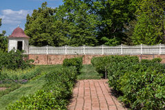 Garden in Mount Vernon Plantation Stock Images