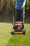 In the Garden - Mowing Lawn Royalty Free Stock Photos