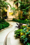 Garden in the National Gallery of Art, Washington, DC. Royalty Free Stock Images