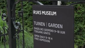 The Garden of the National Museum Amsterdam  City of Amsterdam stock video