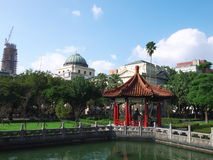Garden beside National Taiwan Museum Royalty Free Stock Image