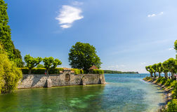 Garden near the lake in Konstanz, Germany. Garden near the lake in Konstanz - Germany Royalty Free Stock Photos