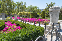 Garden near Madrid Royal Place Royalty Free Stock Photography