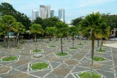 Garden near National Mosque. (Masjid Negara) in Kuala Lumpur, Malaysia Stock Photos