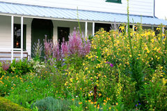 Garden near porch at Kemp House is New Zealand's oldest buildi Royalty Free Stock Photography