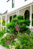 Garden near porch at Kemp House is New Zealand's oldest buildi Royalty Free Stock Photos