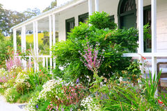 Garden near porch at Kemp House is New Zealand's oldest buildi Stock Photos