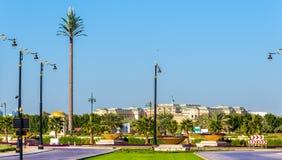 Garden near Zabeel Palace in Dubai royalty free stock image