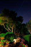 Garden by night Royalty Free Stock Image