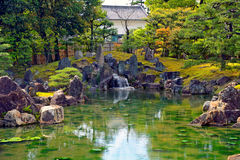 Garden at Nijo Castle, Kyoto, Japan Stock Image