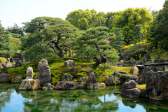 Garden at Nijo Castle, Kyoto, Japan Royalty Free Stock Photos