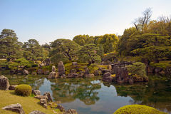 Garden at Nijo Castle, Kyoto, Japan Royalty Free Stock Images