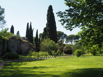 The Garden of Ninfa in Italy Royalty Free Stock Photography