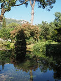 The Garden of Ninfa in Italy Stock Images