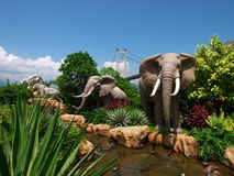 Garden in the noah's ark park Stock Image