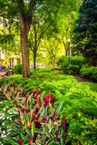 Garden at Norman B. Leventhal Park in Boston, Massachusetts. Royalty Free Stock Photos